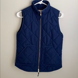 J crew quilted puffer vest excellent condition